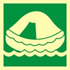 Tratwa ratunkowa - znak morski - FB037