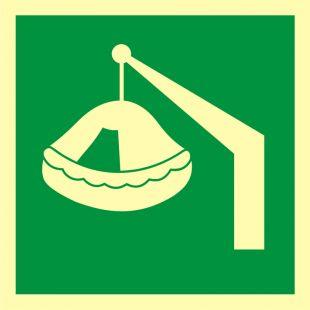 Tratwa wodowana żurawikiem - znak morski - FB038