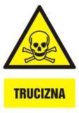 Trucizna - znak bhp ostrzegający, informujący - GF006 - Czynniki chemiczne stwarzające zagrożenie a ocena ryzyka zawodowego