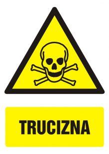 Trucizna - znak bhp ostrzegający, informujący - GF006