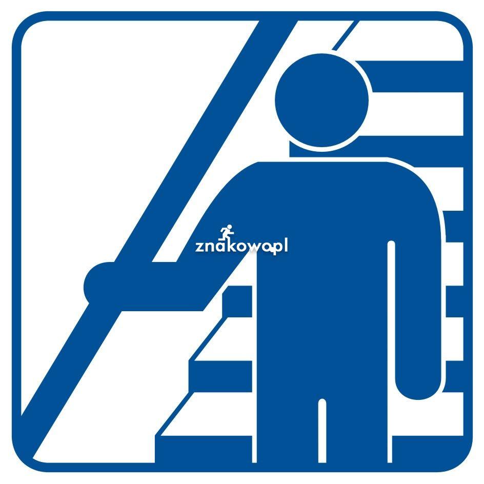 Trzymaj się poręczy schodząc i wchodząc po schodach - Placówki służby zdrowia – oznaczenia