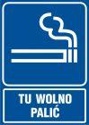 Tu wolno palić - znak informacyjny - RB025