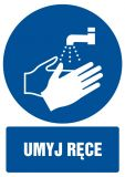 Umyj ręce - znak bhp nakazujący, informujący - GL012 - Szkolenia BHP pracowników