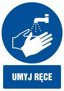 Umyj ręce - znak bhp nakazujący, informujący - GL012