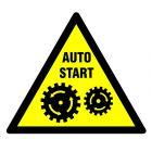 Uruchamia się automatycznie - znak bhp ostrzegający, informujący - GE007
