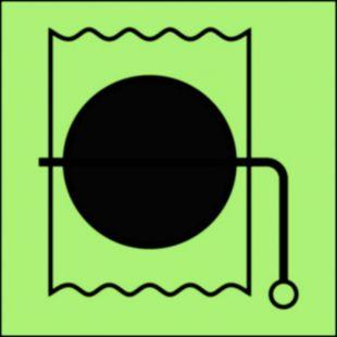 Urządzenie do wewnętrznego zamknięcia wentylacji - znak morski - FA054