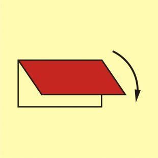Urządzenie do zew. zamknięcia wentylacji wyciąg - znak morski - FA061