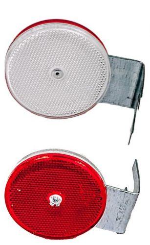 Urządzenie odblaskowe U-1c do bariery drogowej - uchwyt stalowy ocynkowany - Tablice prowadzące na zakrętach