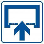 Uwaga! Drzwi otwierane automatycznie - znak informacyjny - RA069