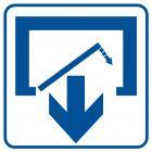 Uwaga! Drzwi zamykają się samoczynnie. Nie zamykaj na siłę 2 - znak informacyjny - RA067