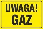 Uwaga! Gaz - znak bezpieczeństwa, ostrzegający, gazociągi - JD026
