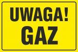 Uwaga! Gaz - znak bezpieczeństwa, ostrzegający, gazociągi - JD026 - Tablice oznaczeniowe dla gazociągów