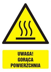 Uwaga! Gorąca powierzchnia - znak bhp ostrzegający, informujący - GF060