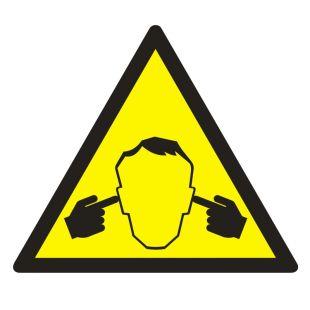 Uwaga ! Hałas - znak bhp ostrzegający, informujący - GE016