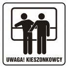 Uwaga! Kieszonkowcy - znak, naklejka kolejowa - SD008