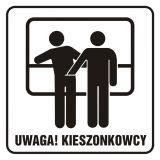 Uwaga! Kieszonkowcy - znak, naklejka kolejowa - SD008 - Znaki do pociągów – oznakowanie stosowane w wagonach pasażerskich
