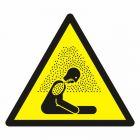 Uwaga! Krytyczny poziom tlenu w powietrzu - znak bhp ostrzegający, informujący - GDW041