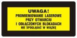 Uwaga! - Nie spoglądać w wiązkę - znak bezpieczeństwa, ostrzegający, laser - KB019 - Szkolenie okresowe pracodawców i innych osób kierujących pracownikami
