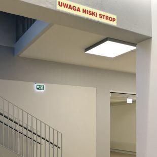 Uwaga niski strop