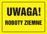 Uwaga! Roboty ziemne - znak, tablica budowlana - OA008 - Zapory drogowe U-20 – rodzaje, zasady i wymagania
