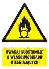 Uwaga! Substancje o właściwościach utleniających - znak bhp ostrzegający, informujący - GF064