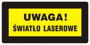 Uwaga! Światło laserowe - znak bezpieczeństwa, ostrzegający, laser - KB003
