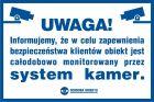 Uwaga! System kamer - znak informacyjny - PA008