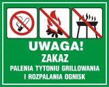 Uwaga! Zakaz palenia tytoniu, grillowania i rozpalania ognisk - znak, lasy - OB039 - Oznakowanie w lesie