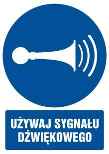 Używaj sygnału dźwiękowego - znak bhp nakazujący, informujący - GL010