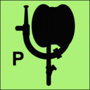 Wąż i prądownica instalacji gaśniczej proszkowej - znak morski - FA049