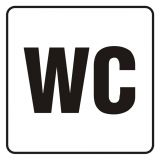 WC - znak, naklejka kolejowa - SD007 - Znaki do pociągów – oznakowanie stosowane w wagonach pasażerskich