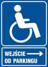 Wejście dla niepełnosprawnych od parkingu - znak informacyjny - RB026