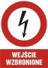Wejście wzbronione - znak sieci elektrycznych - HC004