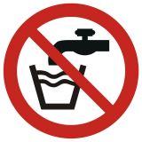 Woda niezdatna do picia - znak bhp informacyjny - GAP005 - Znaki BHP w miejscu pracy (norma PN-93/N-01256/03)