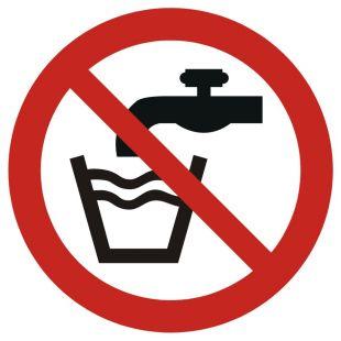 Woda niezdatna do picia - znak bhp informacyjny - GAP005