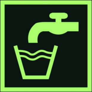 Woda zdatna do picia - znak ewakuacyjny - AAE015