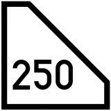 Wskaźnik czoła pociągu W32 - znak kolejowy - Przytorowe wskaźniki kolejowe (W-12 – W-34)