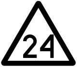 Wskaźnik ograniczenia prędkości W8 niski - znak kolejowy - Znaki kolejowe dla maszynisty