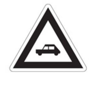 Wskaźnik ostrzegania W6a - znak kolejowy