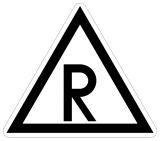 Wskaźnik ostrzegania W7 - znak kolejowy - Kolejowe wskaźniki ogólnoeksploatacyjne (W-1 – W11)