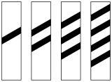 Wskaźnik uprzedzający W11a wąski - znak kolejowy - Kolejowe wskaźniki ogólnoeksploatacyjne (W-1 – W11)