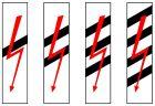 Wskaźnik uprzedzający W11b wąski - znak kolejowy