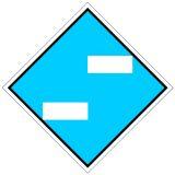 Wskaźnik We1 48x48 cm - znak kolejowy na liniach zelektryfikowanych - Wskaźniki We – wskaźniki dotyczące sieci trakcyjnej