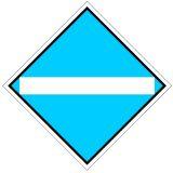 Wskaźnik We2a 48x48 cm - znak kolejowy na liniach zelektryfikowanych - Wskaźniki We – wskaźniki dotyczące sieci trakcyjnej
