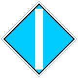 Wskaźnik We3a 48x48 cm - znak kolejowy na liniach zelektryfikowanych - Wskaźniki We – wskaźniki dotyczące sieci trakcyjnej