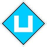 Wskaźnik We9a 48x48 cm - znak kolejowy na liniach zelektryfikowanych - Wskaźniki We – wskaźniki dotyczące sieci trakcyjnej
