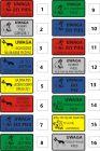 Wybierz wzór, tekst, kolor napisu, kolor tła - zamów - Uwaga pies