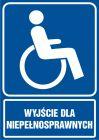 Wyjście dla niepełnosprawnych - znak informacyjny - RB029