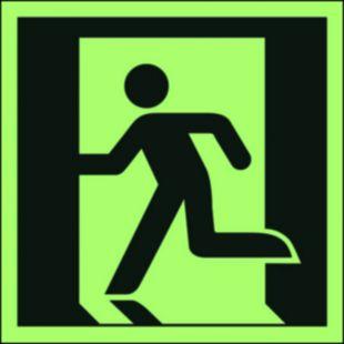 Wyjście ewakuacyjne (lewostronne) - znak ewakuacyjny - AAE001