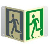 Wyjście ewakuacyjne (lewostronne) - znak ewakuacyjny, przestrzenny, ścienny 3D - Zasady rozmieszczenia znaków ewakuacyjnych
